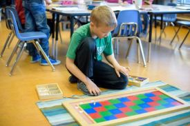 Using the Checkerboard for multiplication AndersonLindsay.com copywrited image